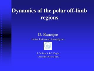 Dynamics of the polar off-limb regions