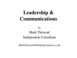 Leadership & Communications