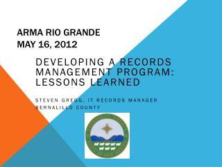 ARMA RIO  gRANDE May 16, 2012