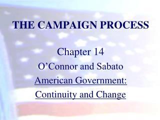 THE CAMPAIGN PROCESS
