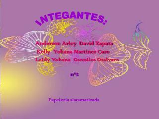 Anderson Arley  David Zapata                   Kelly  Yohana Mart�nez Caro