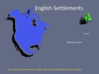 English Settlements