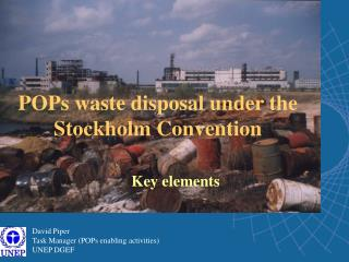 POPs waste disposal under the Stockholm Convention