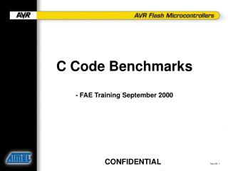 C Code Benchmarks - FAE Training September 2000