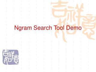 Ngram Search Tool Demo