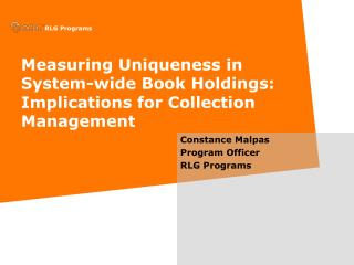 Measuring Uniqueness in System-wide Book Holdings:  Implications for Collection Management