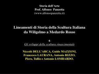 Storia dell�Arte Prof. Alfonso  Panzetta (alfonsopanzetta.it)
