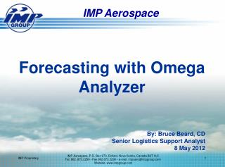 Forecasting with Omega Analyzer