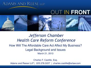 Jefferson Chamber  Health Care Reform Conference