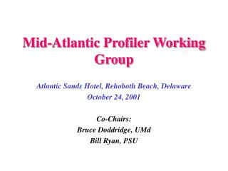 Mid-Atlantic Profiler Working Group