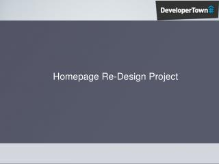 Homepage Re-Design Project