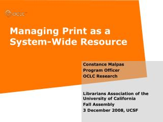 Managing Print as a System-Wide Resource