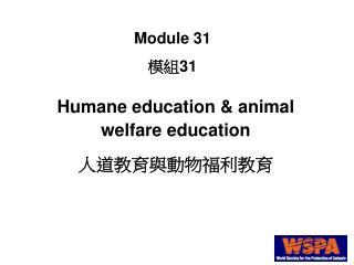 Humane education & animal welfare education 人道教育與動物福利教育