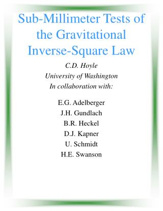 Sub-Millimeter Tests of the Gravitational Inverse-Square Law