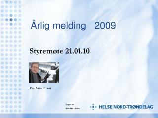 Årlig melding   2009