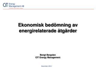 Ekonomisk bedömning av energirelaterade åtgärder