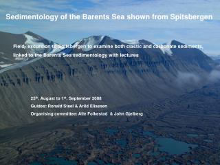 Sedimentology of the Barents Sea shown from Spitsbergen