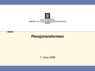 Pensjonsreformen