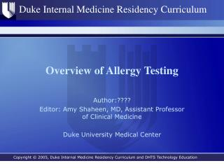 Overview of Allergy Testing