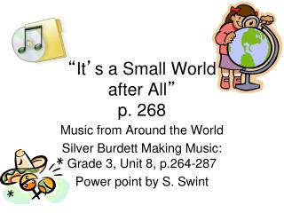 """ It ' s a Small World  after All "" p. 268"