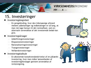15. Investeringer