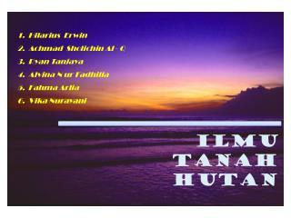 ILMU TANAH HUTAN