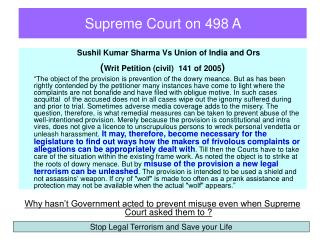 Supreme Court on 498 A