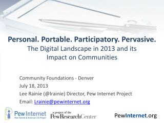 Community Foundations - Denver   July 18, 2013