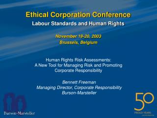 Ethical Corporation Conference