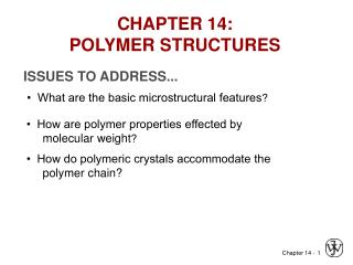 CHAPTER 14: POLYMER STRUCTURES