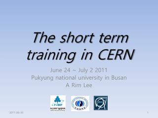 The short term training in CERN