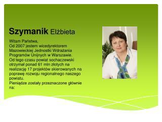 Szymanik  Elżbieta