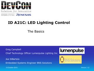 ID A21C: LED Lighting Control