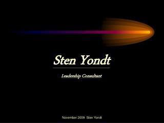Sten Yondt Leadership Consultant