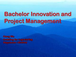 Bachelor Innovation and Project Management