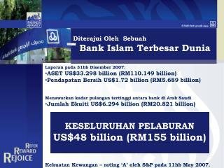 Diterajui Oleh  Sebuah Bank Islam Terbesar Dunia