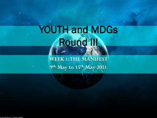 YOUTH and MDGs Round III