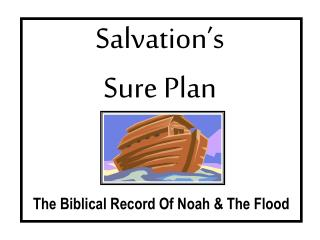 Salvation�s Sure Plan