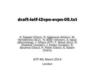 draft-ietf-l2vpn-evpn-05.txt