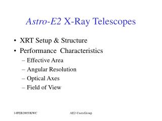 Astro-E2  X-Ray Telescopes