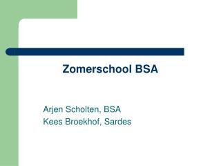 Zomerschool BSA