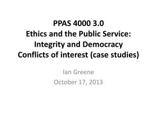 Ian Greene October 17, 2013