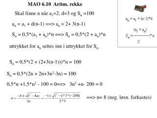 MAO 6.10  Aritm. rekke