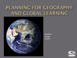 Planning for Geography and Global Learning