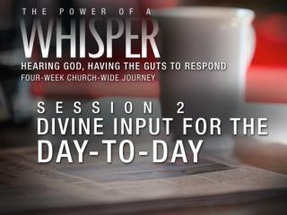 We discern God's whispers from other voices by asking: