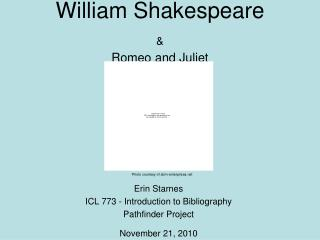 William Shakespeare   Romeo and Juliet