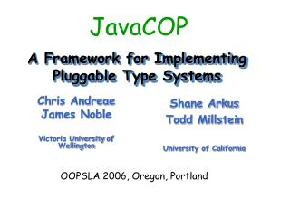 A Framework for Implementing Pluggable Type Systems