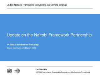 Update on the Nairobi Framework Partnership
