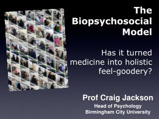 Prof Craig Jackson