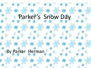 Parker's  Snow Day